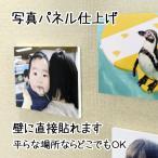 壁アルバム ウォールデコ Lサイズ フォトパネル仕上げ 壁に直接貼れる お客様の写真でつくる 写真プリント 展示用 ウエルカムボードにもおすすめ