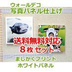壁アルバム ウォールデコ ましかくプリント フォトパネル仕上げ 8枚セット 壁に直接貼れる お客様の写真でつくる 写真プリント 送料無料