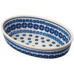 セラミカ(ツェラミカ) ブラウ 小判型ボウル(24cm) ポーリッシュポタリー ポーランド陶器 ポーランド食器