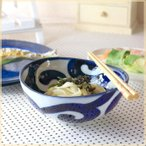 鳴門唐草 楕円5寸鉢 中鉢 だ円鉢 器 うどん鉢 サラダ鉢 煮物鉢 国産 和食器 美濃焼