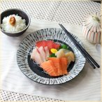 黒潮 7寸大皿 丸皿 ワンプレート 丸プレート パスタ皿 とんかつ皿 メインディッシュ 丸皿 魚肉料理 和食器 美濃焼