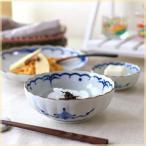 吉祥小紋 麻の葉 5.5寸鉢 浅鉢 肉じゃが鉢 煮物鉢 ボ