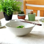 粉引釉 21cmラーメン鉢 どんな料理にも合わせられます うどん鉢 丼 どんぶり 鉢 煮物 国産 美濃焼