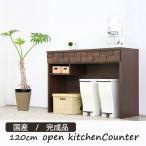 オープンキッチンカウンター 食器棚 完成品 国産 120cm幅 ガルト