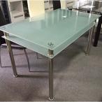 ダイニングテーブル 130cm幅 4人用  ガラス キャンキャン (テーブルのみ販売