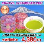 父の日 ギフト 日本一富士山の特上煎茶セット 初摘み新茶 50gと八十八夜摘み新茶 50g