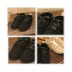Amina Shose Series アミナレースアップシューズ☆ (ブラック)リボン付き (23.5cm 24.5cm)