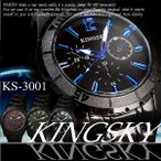 Yahoo Shopping - メンズ時計 ブラックメタル 50mm クロノグラフ マットベゼルウォッチ  日常生活防水 全4色
