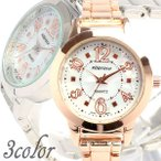 レディース腕時計 ホワイトシェル文字盤 メタルベルト 3気圧防水 全2色
