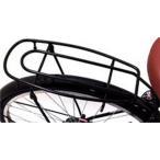 ショッピング自転車 クラス25 自転車26インチVフレーム用荷台 キャリア シートピン止め用ブラック