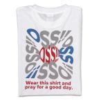空手 Tシャツ OSS!! タイポグラフィー(白)※受注生産商品※