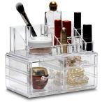 粧品収納ボックス 化粧品収納ラック 透明化粧品ケース 強い耐久性 整理簡単 引き出し小物/化粧品入れ おしゃれ 透明化粧品入れ コスメ収納