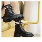 防寒ブーツ ファッション 婦人靴 リブニット 冬 マーティン靴