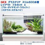GEX グラステリア スリム600 レイアウトフルセットA(ブルーダイヤモンドラミレジィ&コリドラス・ステルバイ)水槽セット 本州・四国限定