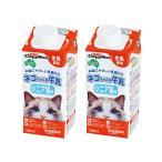 キャティーマン ネコちゃんの牛乳 シニア猫用 200ml 猫 ミルク 2個入り 関東当日便