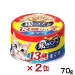 銀のスプーン 缶 13歳以上用まぐろ 70g キャットフード 銀のスプーン 超高齢猫用 2缶入り 関東当日便