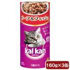 カルカンハンディ缶 1歳から ビーフ&フィッシュ 160g×3P 猫フード 成猫用 関東当日便