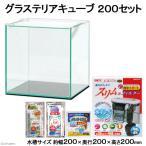 GEX グラステリアキューブ 200セット 熱帯魚 鑑賞魚 ガラス水槽セット 初心者 関東当日便