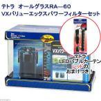 数量限定 60cm水槽セット テトラ オールグラスRA-60VXバリューエックスパワーフィルター バブルカーテン レッドのおまけつき 関東当日便
