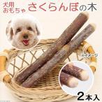 国産 さくらんぼの木 犬用 2本入 おもちゃ 無添加 無着色 小型犬 中型犬 関東当日便