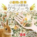小動物の食事 たっぷりお野菜のグラノーラ 大容量 500g おやつ 無添加 無着色 関東当日便