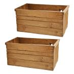 青森県産りんご箱 アンティーク仕立て 訳あり 2箱