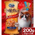 ユニチャーム 銀のスプーン 三ツ星グルメ 全猫用 お魚レシピに贅沢素材 4種のアソート 200g(20g×10袋) 関東当日便
