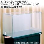 バックスクリーン貼付済 サンド オールガラス60cm水槽 アクロ60N 前側面5cm帯タイプ(単体) お一人様1点限り 沖縄別途送料