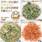 デグーさん達のビタミンCたっぷりお野菜セット 人気野菜3種アソート 国産おやつ 関東当日便