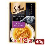 シーバ アミューズ 贅沢シーフードスープ 蟹かま サーモン添え 40g 12袋入り