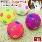 ペットプロ 犬おもちゃ サッカーボール 色おまかせ 関東当日便