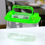 飼育容器 ワイドミニ 緑(180×120×125mm) プラケース 虫かご 飼育容器 昆虫 メダカ ザリガニ 両生類など 関東当日便