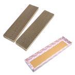 猫 爪とぎ(つめとぎ)セット (化粧箱ピンク1枚+カリカリくん2個組) 猫の爪みがき 関東当日便