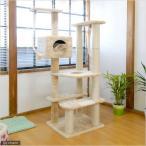 キャットどこでもタワー突っ張りLong(W57.5×D57.5×H141〜262cm) 猫 爪とぎ キャットタワー 据え置き おもちゃ 関東当日便