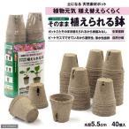 ジフィーポット(そのまま植えられる鉢) 丸型5.5cm (40個入) サカタのタネ 関東当日便