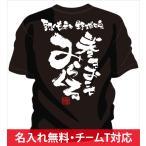 名入れ無料!背中に熱いメッセージ文字入りtシャツ。少年野球の応援にオススメ野球 チーム オリジナル tシャツ 「みらくる」