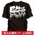 空手tシャツ通販 ! 空手こどもtシャツ や ジュニア空手tシャツ に ! 空手tシャツ 文字 「Never Give up〜ネバーギブアップ〜」 空手オリジナルtシャツ