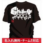 名入れ無料!背中に熱いメッセージ文字入りtシャツ。女子対応なのでチームtシャツや部活tシャツにオススメのソフトボールtシャツ「Challenge〜挑戦〜」