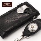 財布 メンズ 長財布 ウォレット フラットヘッド FLATHEAD メンズ スモールクロコダイル コードバン ロングウォレット 手縫いCDS-2R