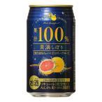 チューハイ 富永貿易 素滴しぼり 果汁100% チューハイ ピンクグレープフルーツ 350mlケース (24本入り) (( お取り寄せ商品 ))