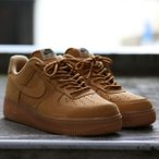 NIKE AIR FORCE 1 '07 WB (FLAX/FLAX-GUM LIGHT BROWN-OUTDOOR GREEN) 17HO-S