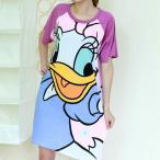 ディズニーデイジーシャツワンピ、ディズニーロングt、ディズニーワンピース 半袖 onepiece-hansode-daisy-back-cosme