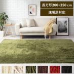 ラグマット おしゃれ 洗える シャギーラグ カーペット 床暖房 ホットカーペット対応 軽い 長方形 200×250cm