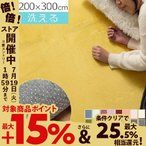 ラグマット 洗える ウォッシャブル 洗濯可能 丸洗い ラグ カーペット 200×300 滑り止め 長方形 ウレタンラグ