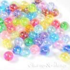 C&T 虹色きらきらアクリル玉オーロラ10mmビーズ穴約1mm【30個】アクセサリー材料プラスチック素材アクリルビーズ軽量カラフル