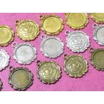 C&T ラウンドの薔薇の模様のミール皿トレイ約14x14mmレジン【8個入り】アクセサリーパーツ材料セッティング台パーツ