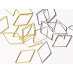 C&T 真鍮つなぎパーツひし形ダイヤ菱型23x15mmレジン空枠【12個入り】アクセサリーパーツつなぐ部品ビーズ細工ハンドメイド材料ピアス素材リンク
