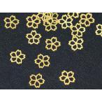 C&T 桜の花レジン封入メタルminiパーツ【30個入り】真鍮アクセサリーパーツさくらネイル爪サイズ