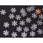 C&T 雪の結晶IIレジン封入ソフトメタルminiパーツ【30個入り】アクセサリーパーツXmasクリスマスモチーフ金属シート薄型ネイルにも