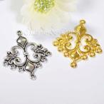 C&T ユリの花のシャンデリア金属チャーム【5個入】アクセサリー材料アクセ金具ネックレス素材パーツ